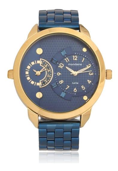 Relógio Feminino Mondaine Analógico 76544lpmvle7 Azul