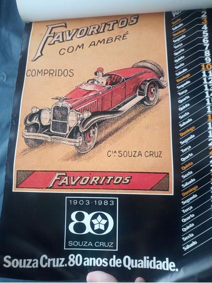 Calendário Cigarros Souza Cruz - 80 Anos - 1983