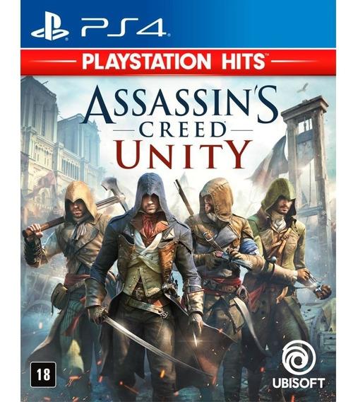 Assassins Creed Unity Ps4 Midia Física Português - Novo