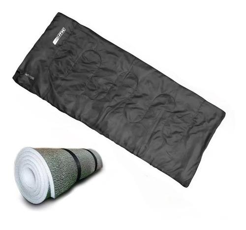 Imagen 1 de 10 de Combo Bolsa De Dormir Ntk + Aislante Termico Aluminizado