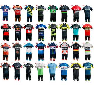Conjunto Ciclismo Bermuda + Camisa + Manguito Brinde M Ao 3g