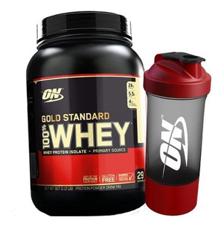 100% Whey Gold Standard 900g + Coqueteleira - On / Optimum