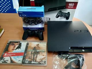 Playstation 3 160gb + 2 Control + 15 Juegos +30dias Garantía