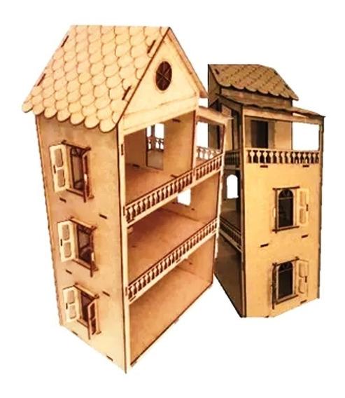 Casa Casinha Boneca+35miniaturas 53cm Abre/fecha Eq60cm Nome
