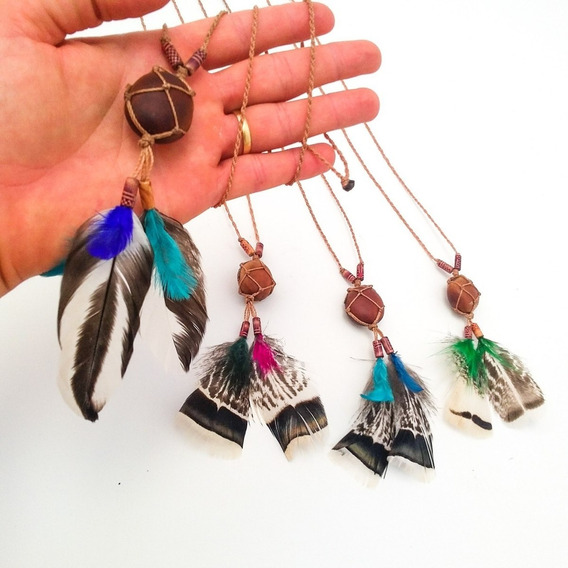 Colar Olho De Boi Amuleto Mucunã Indígena Xamânico