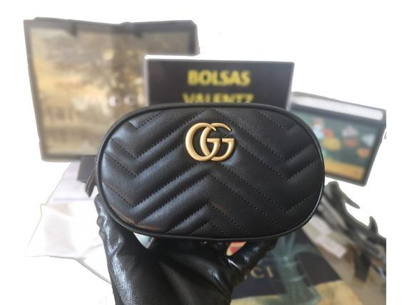 Bolsa Gucci Gg Marmont Matelassé Leather Belt Bag Cangurera