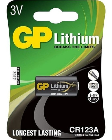 Bateria Pilha 3v Cr123a Lithium Golden Power