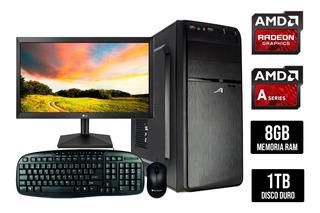 Computadora Gamer Amd A6 8gb 1tb Monitor Lg 19.5