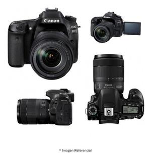 Canon Eos 80d Dslr Profesional 24.2mp Con Lente 18-135mm