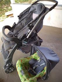 Carrinho De Bebê Com Bebê Conforto Burigotto Semi Novo