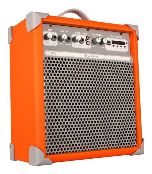 Caixa De Som Amplificada Multiuso Up!8 Orange Fm/bluetooth