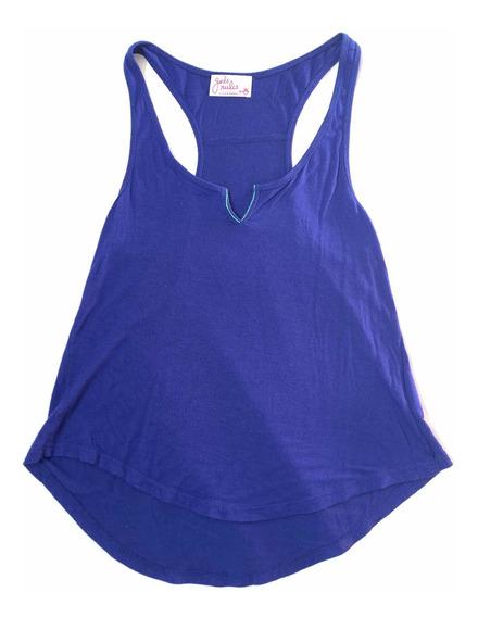 Camiseta Azul Eléctrico Casual De Todomoda
