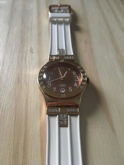 Relógio Swatch Fancy Me Pink Gold Ylg403
