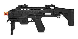 Submetralhadora C/ Pistola Airsoft Co2 Acp603 Aps Conception