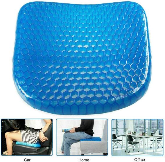 Almofada Assento Gel Silicone Escaras Cóccix Ortopédico Hexa