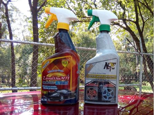 Lions Wax Mf1 Lavado En Seco Y Lions Wax Chrome Motor/rines