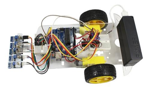 Kit Para Armar Robot Seguidor Línea Arduino+tutorial+código