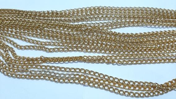 Kit Corrente Dourada N°0 10 Metros Alumínio Bijuterias