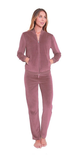 Conjunto Deportivo Pants Para Dama Terciopelo