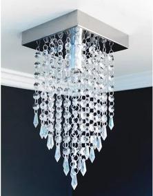 Lustre Pendente Cristal Acrílico Sala Jantar Moderno