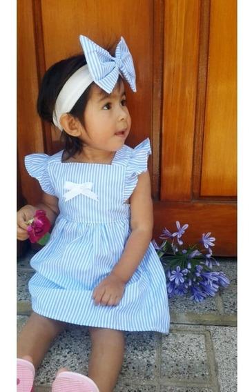 Vestido Casual De Nena (incluye La Vincha)