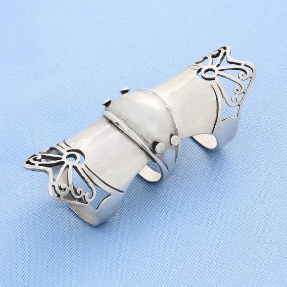 Anel Dedo Inteiro Articulavel Prata 925 5156