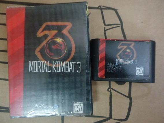 Cartucho Com O Jogo Mortal Kombat 3 Genesis / Megadriver