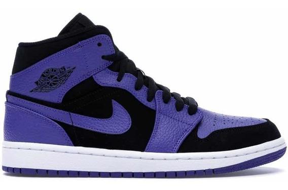 Sneakers Originales Jordan 1 Retro Mid Court Purple Original