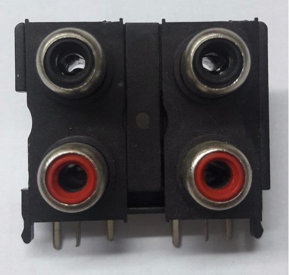 Conector Rca Para Módulos Rca De Quatro Entradas 100pçs