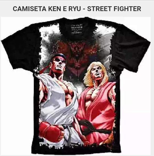 Camisa Ken E Ryu Street Fighter