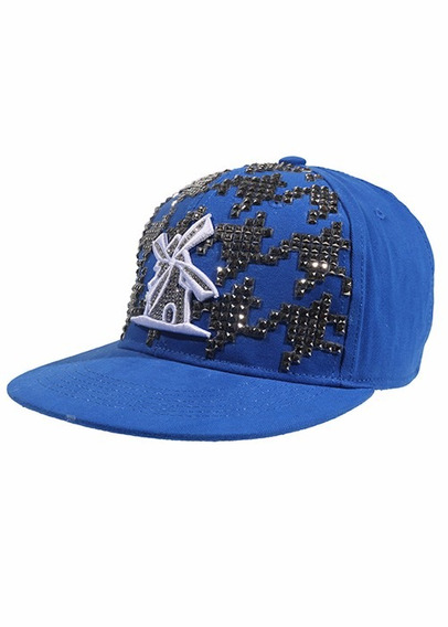 Bone Giulianno Fiori Ralph Blue Tachas E Strass Prata Aba Re