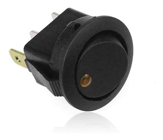 Botão Interruptor Veicular Liga E Desliga Com Led Amarelo
