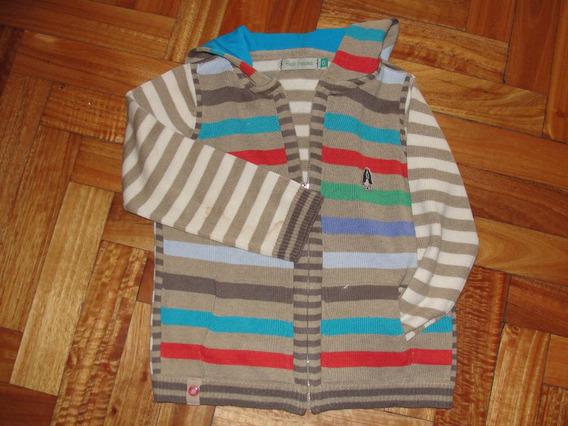 Sweater/saquito Cierre Capucha T 6 Hush Puppies - Excelente