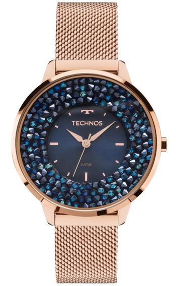Relógio Feminino Technos 2035mle/4a 38mm Aço Rose