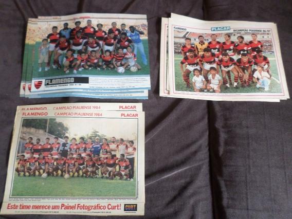 Flamengo Coleção 3 Posters Campeão Piauí Placar Futebol