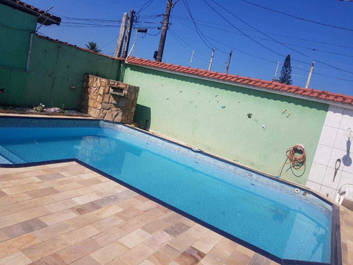 5295 - Casa 3 Dormitorios Com Piscina Jussara  Mongagua