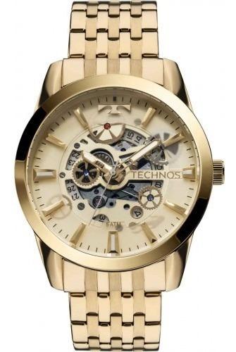 Relógio Technos Classic Esqueleto Automático 8205nq/4x