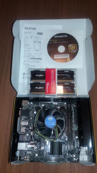 Kit Mini Pc Gamer Itx Intel I3 7100 3.9 Ghz Kaby Lake 8gb