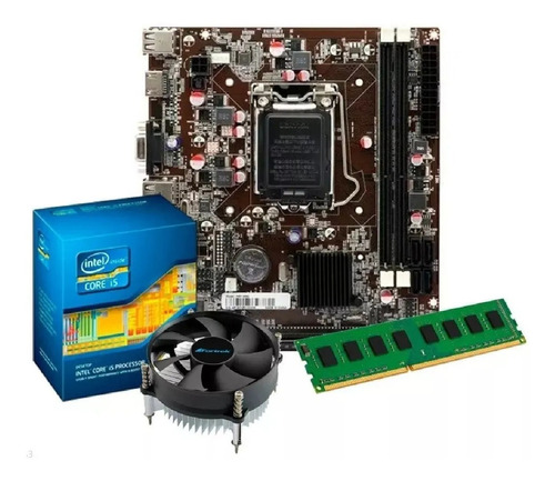 Imagem 1 de 3 de Kit Intel Core I5 3470 3.6 Ghz + Placa H61 + 8gb Ram + Nf