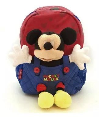 Mochila Jardin Mickey Con Peluche