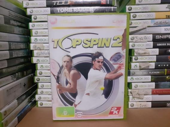 Jogo De Tennis Top Spin 2 Xbox 360 Original Mídia Leia Tudo