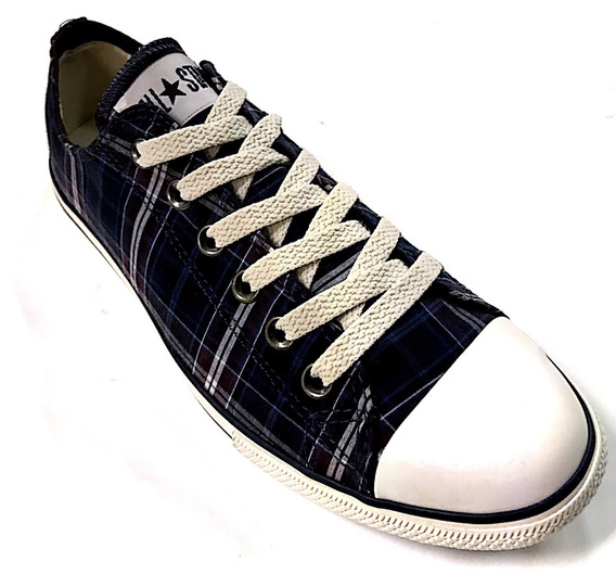 Tênis All Star Converse Ct As Specialty Slim Plaid Ox Marinh