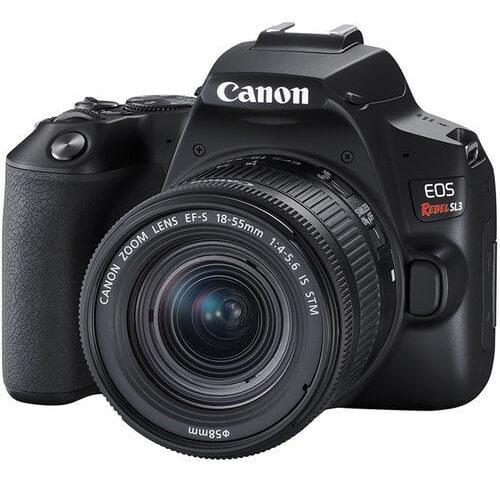 Câmera Canon Eos Rebel Sl3 4k Com Lente 18-55mm Is Stm