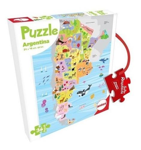 Puzzle Argentina 36 Piezas Rompecabezas Niños Antex +3 Años