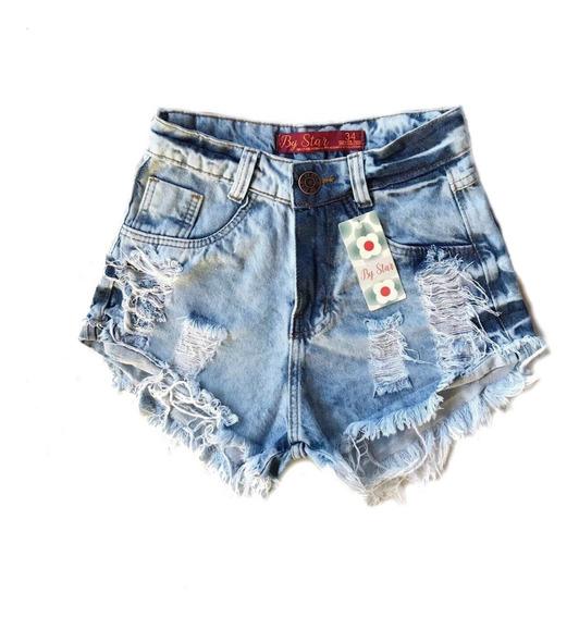 Shortinho Feminino Destroyed Estilo Hot Pants Atacado -