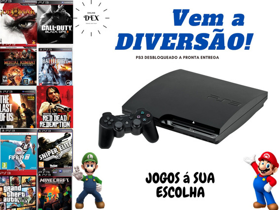 Ps3 Playstation 3 Ps 3 Desbloqueado + Destravado Original