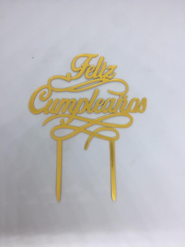 Imagen 1 de 2 de Cartel Decorativo Para Torta Feliz Cumpleaños Fiesta