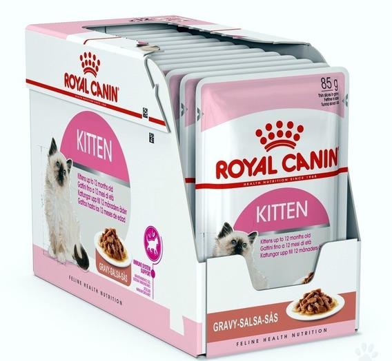 Combo 12un Sachê Royal Canin Gatos Kitten 85g Cada Filhotes