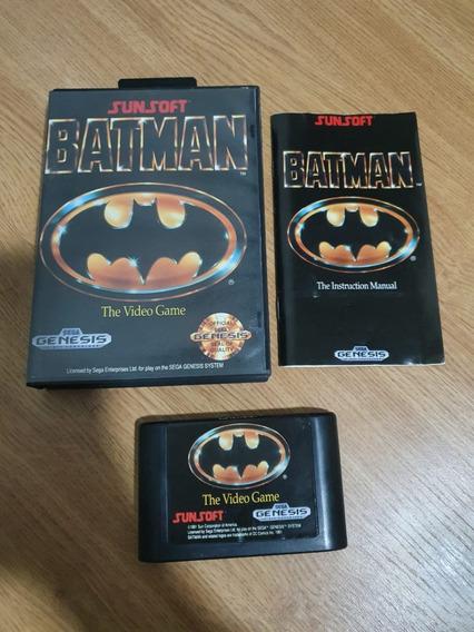 Mega Drive Jogo Original Completo Cartucho C/ Manual Batman