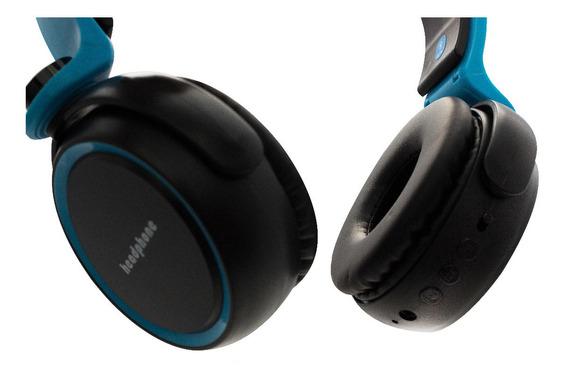 Fone De Ouvido Bluetooth Sem Fio Radio Fm Micro Sd P2 D400